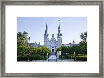 Villanova Cathedral Framed Print by Bill Cannon