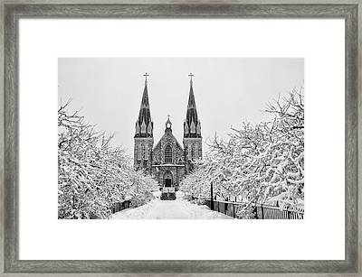 Villanova Cathedral - Winter  Framed Print by Bill Cannon
