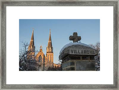 Villanova Wall And Chapel Framed Print by Photographic Arts And Design Studio