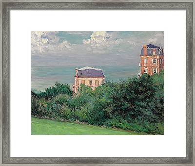 Villas At Villers-sur-mer Framed Print by Gustave Caillebotte