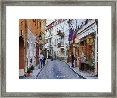 Vilnius Old Town 37 Framed Print by Yury Malkov