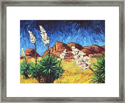 Vincent In Arizona Framed Print by James W Johnson