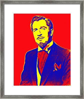 Vincent Price Framed Print by Art Cinema Gallery