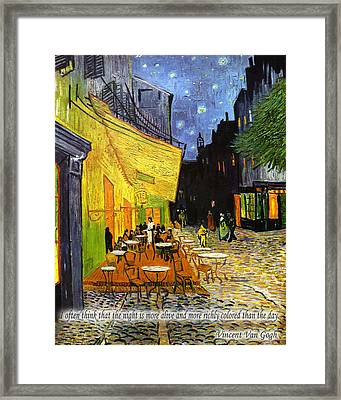 Vincent Van Gogh Quotes 2 Framed Print by Andrew Fare
