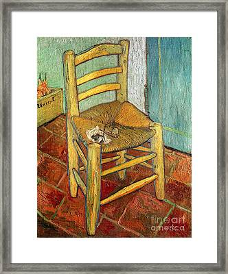 Vincent's Chair 1888 Framed Print by Vincent van Gogh