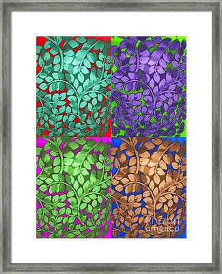 Vine Abstract Framed Print by Joan  Minchak