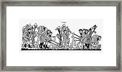 Vinegrowing, 10th Century Framed Print by Granger