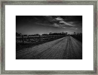 Vines Line The Path Framed Print by Shari Mattox