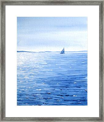 Vineyard Bound Framed Print by Greg Lindberg