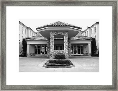 Vineyard Creek Hyatt Hotel Santa Rosa California 5d25792 Bw Framed Print by Wingsdomain Art and Photography