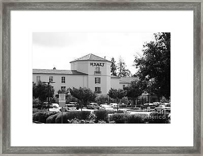 Vineyard Creek Hyatt Hotel Santa Rosa California 5d25866 Bw Framed Print by Wingsdomain Art and Photography