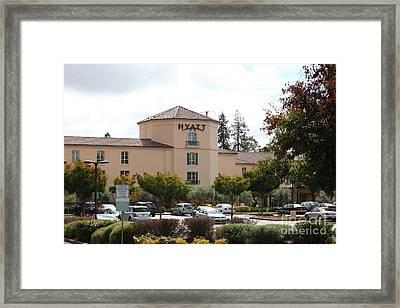 Vineyard Creek Hyatt Hotel Santa Rosa California 5d25866 Framed Print by Wingsdomain Art and Photography