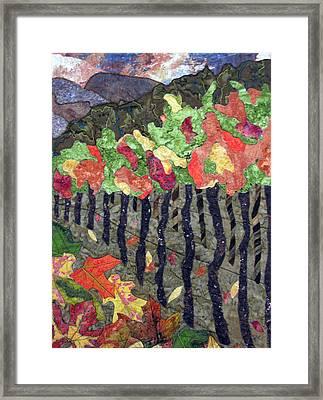 Vineyard In Autumn Framed Print by Lynda K Boardman
