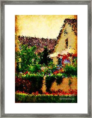 Vineyard Veranda Framed Print by Mindy Bench