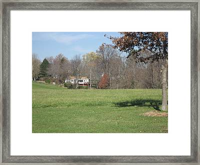Vineyards In Va - 121231 Framed Print by DC Photographer