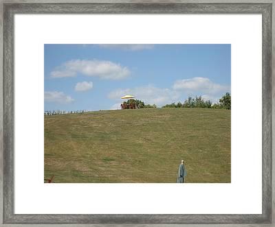 Vineyards In Va - 121243 Framed Print by DC Photographer