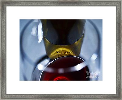 Vino Reflections Framed Print by John Debar