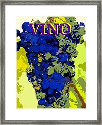 Vino Spc Work Purple Framed Print by David Lee Thompson