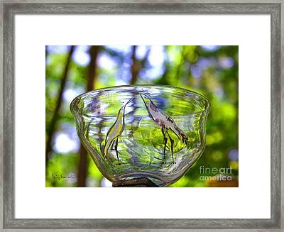 Vinsanchi Glass Art-4 Framed Print by Vin Kitayama
