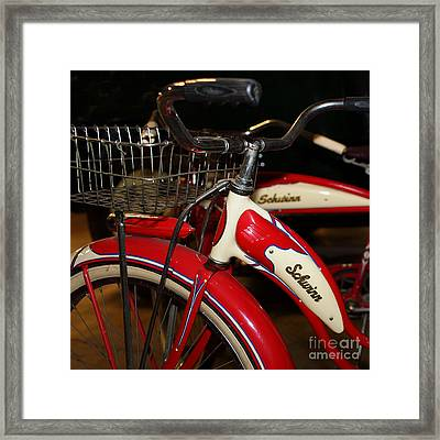 Vintage 1941 Boys And 1946 Girls Bicycle 5d25760 Square Framed Print by Wingsdomain Art and Photography