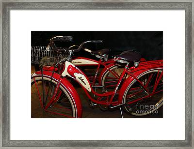 Vintage 1941 Boys And 1946 Girls Bicycle 5d25760 Framed Print by Wingsdomain Art and Photography