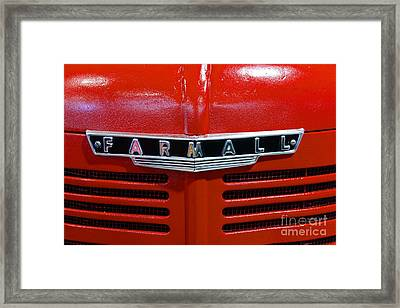 Vintage 1947 Farmall Tractor Framed Print by Paul Ward