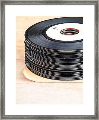 Vintage 45s Framed Print by Edward Fielding