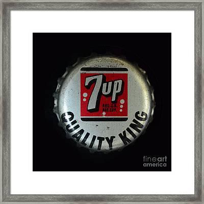 Vintage 7up Bottle Cap Framed Print by Paul Ward
