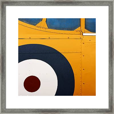 Vintage Airplane Abstract Design Framed Print by Carol Leigh