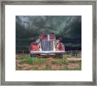 Vintage American Lafrance Fire Truck Framed Print by Juli Scalzi
