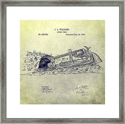 Vintage Animal Trap Patent Framed Print by Dan Sproul