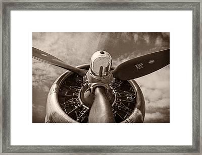Vintage B-17 Framed Print by Adam Romanowicz