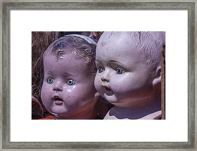 Vintage Baby Doll Heads Framed Print by Garry Gay