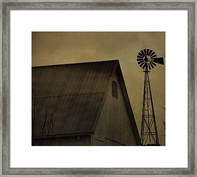 Vintage Barn And Windmill Framed Print by Dan Sproul