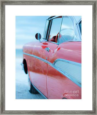 Vintage Belair On The Beach 11x14 Standard Framed Print by Edward Fielding