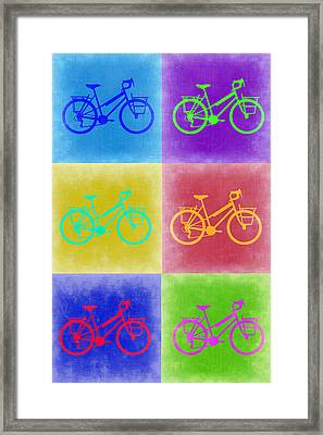 Vintage Bicycle Pop Art 2 Framed Print by Naxart Studio