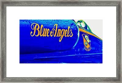Vintage Blue Angel Framed Print by Benjamin Yeager