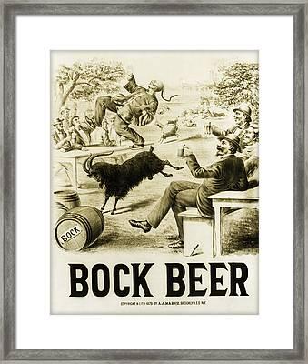 Vintage Bock Beer - 1879 Framed Print by Digital Reproductions