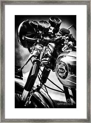 Vintage Bsa Goldstar Framed Print by Tim Gainey