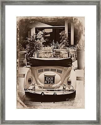 Vintage Bug Framed Print by Clare Bevan