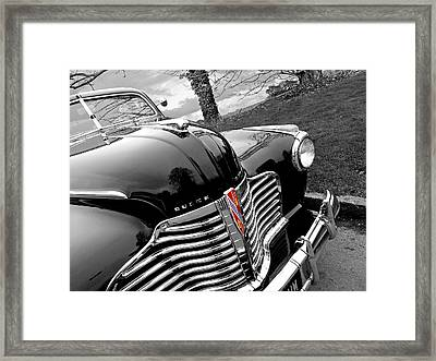 Vintage Buick 8 Framed Print by Gill Billington