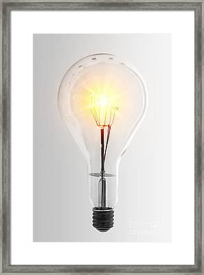 Vintage Bulb Framed Print by Carlos Caetano