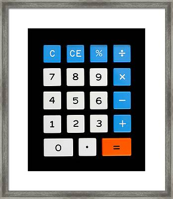 Vintage Calculator Keypad Framed Print by Jim Hughes