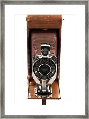 Vintage Camera Framed Print by John Rizzuto