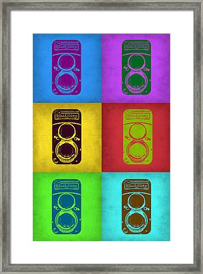 Vintage Camera Pop Art 2 Framed Print by Naxart Studio