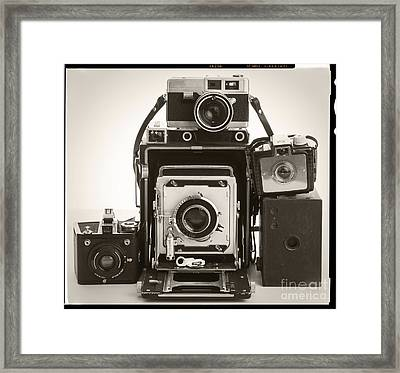 Vintage Cameras Framed Print by Edward Fielding