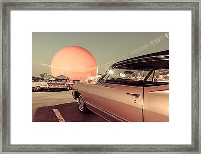 Vintage Car Meet At The Julep Framed Print by Martin New