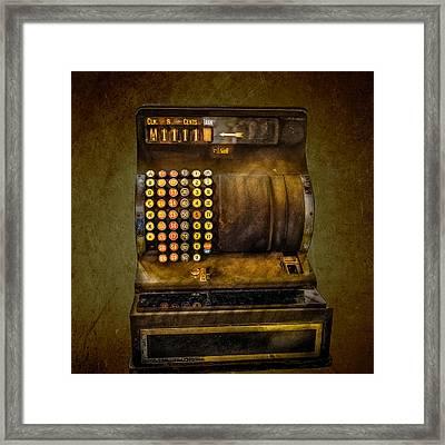 Vintage Cash Register Framed Print by Paul Freidlund