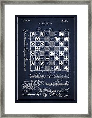 Vintage Checker And Chess Board Drawing From 1921 Framed Print by Aged Pixel