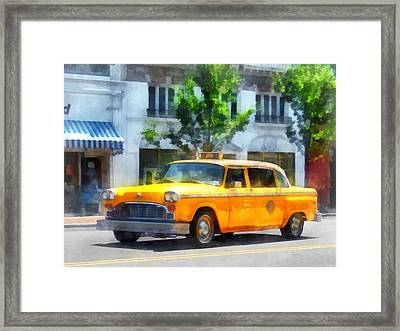 Vintage Checkered Cab Framed Print by Susan Savad